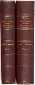 Books:Travels & Voyages, John L. Stephens. Incidents of Travel in Central America,Chiapas, and Yucatan. New York: Harper & Brothers, 184...(Total: 2 Items)