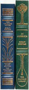Books:Fine Bindings & Library Sets, [Susan Sontag]. Pair of SIGNED Titles. Includes: The Volcano's Lover [and:] In America. Franklin Cen... (Total: 2 Items)