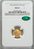 Commemorative Gold, 1922 G$1 Grant With Star MS65 NGC. CAC....