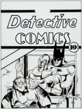 Original Comic Art:Covers, Batman Archives #1 Page 89 Detective #35 Cover RecreationOriginal Art (DC, 1990)....