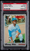 Baseball Cards:Singles (1970-Now), 1970 Topps Manny Mota #157 PSA Gem Mint 10 - Pop Two....