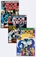 Modern Age (1980-Present):Superhero, Moon Knight Related Group of 56 (Marvel, 1980-90) Condition:Average NM-.... (Total: 56 Comic Books)