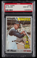 Baseball Cards:Singles (1970-Now), 1970 Topps Al Oliver #166 PSA Gem Mint 10 - Pop Two....