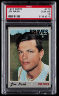 Baseball Cards:Singles (1970-Now), 1970 Topps Jim Nash #171 PSA Gem Mint 10 - Pop Two....