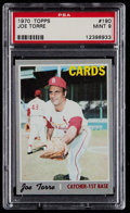 Baseball Cards:Singles (1970-Now), 1970 Topps Joe Torre #190 PSA Mint 9....