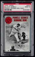Baseball Cards:Singles (1970-Now), 1970 Topps ALCS Game 2 #200 PSA Mint 9....