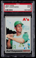 Baseball Cards:Singles (1970-Now), 1970 Topps Bert Campaneris #205 PSA Mint 9....