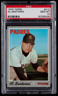 Baseball Cards:Singles (1970-Now), 1970 Topps Al Santorini #212 PSA Gem Mint 10 - Pop Two....