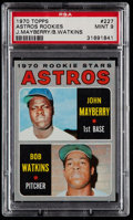 Baseball Cards:Singles (1970-Now), 1970 Topps Astros Rookies #227 PSA Mint 9....
