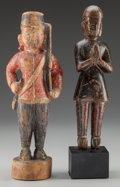 Tribal Art, Two Indonesian Figures... (Total: 2 Items)