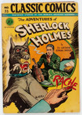 Golden Age (1938-1955):Classics Illustrated, Classic Comics #33 The Adventures of Sherlock Holmes - FirstEdition (Gilberton, 1947) Condition: Apparent VG....
