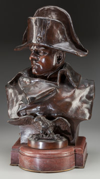 RENZO COLOMBO (French/Italian, 1856-1885) Napoleon, 1885 Bronze with brown patina 22 inches (55.9