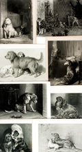 Books:Prints & Leaves, [Dogs]. Group of Sixteen Engraved Plates Depicting Dogs. Variouspublishers and dates, circa 1860. ...