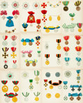 Books:Prints & Leaves, [European Orders and Medals]. Group of Fifty-Nine Plates withHand-Coloring Depicting Various European Orders Medals. Variou...