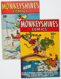 Golden Age (1938-1955):Funny Animal, Monkeyshines Comics #1 and 7 Group (Ace, 1944-45).... (Total: 2Comic Books)