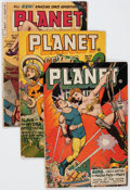 Golden Age (1938-1955):Science Fiction, Planet Comics #42, 46, and 72 Group (Fiction House, 1946-53)....(Total: 3 Comic Books)