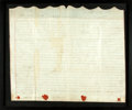 Autographs:Non-American, Framed Eighteenth-Century Land Indenture in the Reign of GeorgeIII. Manuscript on vellum. Dated 1795. ...