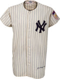 Baseball Collectibles:Uniforms, 1950 Joe DiMaggio Game Worn New York Yankees Uniform, MEARS A8....