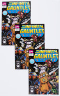 Modern Age (1980-Present):Superhero, The Infinity Gauntlet #1 Group of 5 (Marvel, 1991) Condition:Average NM.... (Total: 5 Comic Books)