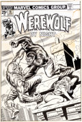 Original Comic Art:Covers, Ron Wilson and Frank Giacoia Werewolf By Night #18 CoverOriginal Art (Marvel, 1974)....