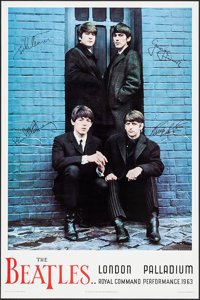 """Beatles Command Performance (Apple Corps, R-1987). Reproduction Concert Poster (24"""" X 36""""). Rock and Roll"""