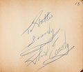 Music Memorabilia:Autographs and Signed Items, Sam Cooke, Jerry Lee Lewis, Frank Avalon, and Others Signatures inan Autograph Book (1950s-1960s)....