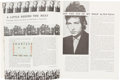 Music Memorabilia:Documents, Bob Dylan: 1965 Newport Folk Festival Program and Ticket....