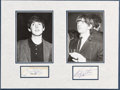 Music Memorabilia:Autographs and Signed Items, Beatles - Paul McCartney and Ringo Starr Signatures in MattedDisplay....