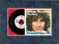 """Music Memorabilia:Autographs and Signed Items, Beatles - George Harrison Signed """"This Song / Learning How to Love You"""" German Picture Sleeve with White Label Promo 45 Record..."""