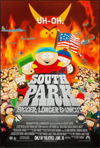 "South Park: Bigger Longer & Uncut & Others Lot (Paramount, 1999). One Sheets (3) (27"" X 41"") D..."