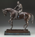 Fine Art - Sculpture, European:Antique (Pre 1900), After Isidore Jules Bonheur (French, 20th Century). Le GrandJockey. Bronze with brown patina. 22-1/2 inches (57.2 cm) h...
