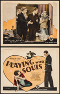 "Movie Posters:Drama, Playing with Souls (First National, 1925). Title Lobby Card &Lobby Card (11"" X 14""). Drama.. ... (Total: 2 Items)"