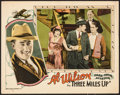 "Movie Posters:Action, Three Miles Up (Universal, 1927). Lobby Card (11"" X 14""). Action.. ..."