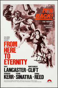 "From Here to Eternity & Other Lot (Columbia, R-1970s). One Sheets (2) (27"" X 41"") Flat Folded. Academy..."