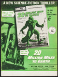 "Movie Posters:Science Fiction, 20 Million Miles to Earth (Columbia, 1957). Newsstand Midget WindowCard (10.5"" X 14""). Science Fiction.. ..."