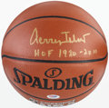 Basketball Collectibles:Balls, Jerry West Signed Basketball....