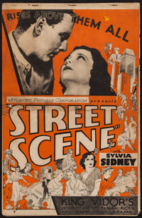 "Street Scene (United Artists, 1931). Uncut Pressbook (8 Pages, 11"" X 17""). Drama"