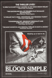 "Blood Simple (Circle Films, 1984). One Sheet (24"" X 36.5""). Thriller"