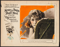 "Never the Twain Shall Meet (MGM, 1925). Lobby Card (11"" X 14""). Drama"