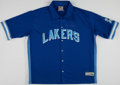 Basketball Collectibles:Uniforms, Jerry West Signed Los Angeles Lakers Warmup Jacket....