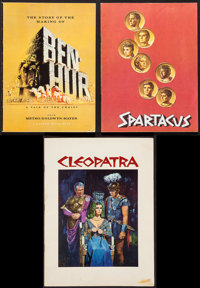 """Spartacus & Others Lot (Universal International, 1960). Programs (3) (Multiple Pages, 8"""" X 11"""", 8.25&q..."""