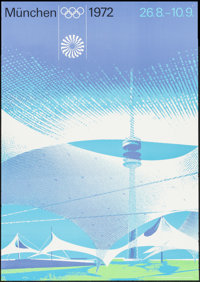 """1972 Olympics Games & Other Lot (1972). Posters (2) (21.5"""" X 31.25"""", 23.25"""" X 33""""). Sports..."""