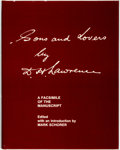 Books:Literature Pre-1900, D. H. Lawrence. Sons and Lovers. A Facsimile of theManuscript. University of California Press, [1977]. ...