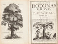Books:World History, J[ames] H[owell]. Dendrologia [Greek transliterated].Dodona's Grove, or, The Vocall Forrest. By I. H. Esqr.[London]:...