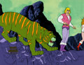 Animation Art:Production Cel, He-Man and the Masters of the Universe Cringer, Prince Adam,and Teela Production Cel Setup (Filmation, 1984). ... (Total: 4Items)