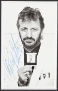 Music Memorabilia:Autographs and Signed Items, Beatles - Ringo Starr Signed Photo in Matted Display (Circa 1980s)....