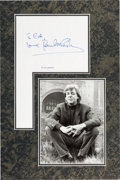 Music Memorabilia:Autographs and Signed Items, Beatles - Paul McCartney Signature in Matted Display. ...