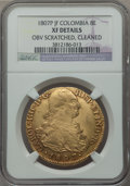 Colombia, Colombia: Charles IV gold 8 Escudos 1807 P-JF XF Details (ObverseScratched Cleaned) NGC,...