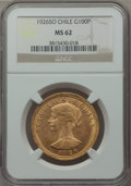 Chile, Chile: Republic gold 100 Pesos 1926-So MS62 NGC,...