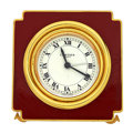 Timepieces:Clocks, Cartier Enamel Table Alarm Clock . ...